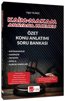 Akfon Yayınları KPSS ve Tüm Sınavlar İçin Kaim Makam Konu Özetli Soru Bankası Anayasa Hukuku