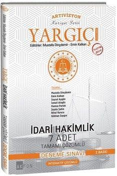 Akfon Yayınları Yargıç İdari Hakimlik 7 Adet Tamamı Çözümlü Deneme Sınavı