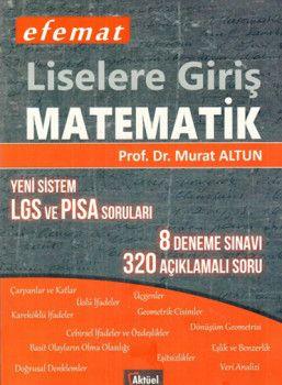 Aktüel Yayınları Liselere Giriş Matematik Yeni Sistem LGS ve PISA Soruları 8 Deneme Sınavı