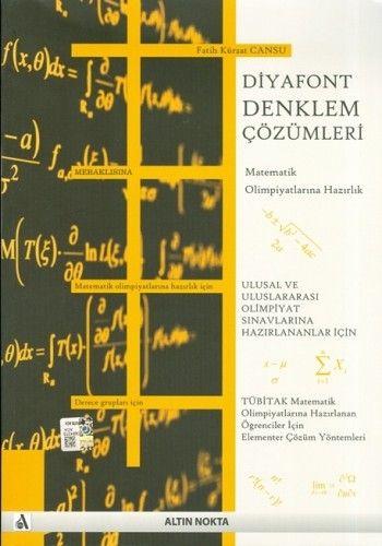 Alın Nokta Yayınları Diyafont Denklem Çözümleri