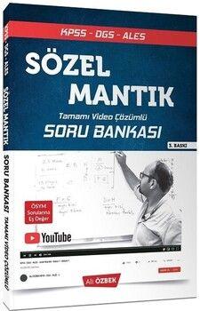 Ali Özbek KPSS DGS ALES Sözel Mantık Soru Bankası Video Çözümlü