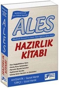 Altı Şapka Yayınları ALES Hazırlık Kitabı