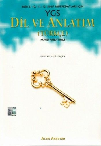 Altın Anahtar YGS Dil ve Anlatım Türkçe Konu Anlatımlı