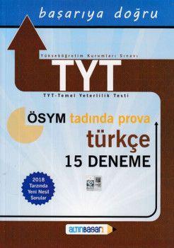 Altın Başarı Yayınları TYT Türkçe 15 Deneme