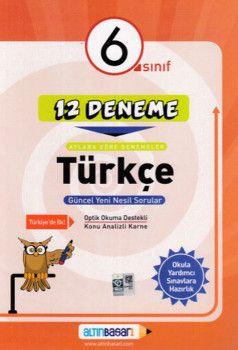 Altın Başarı Yayınları 6. Sınıf Türkçe 12 Deneme