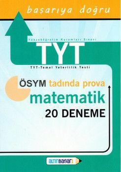 Altın Başarı Yayınları YKS 1. Oturum TYT Prova Matematik 20 Deneme