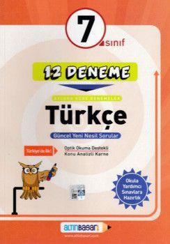 Altın Başarı Yayınları 7. Sınıf Türkçe 12 Deneme