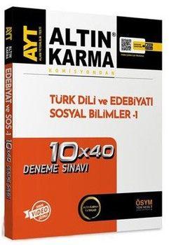 Altın Karma AYT Türk Dili ve Edebiyatı Sosyal Bilimler 1 10 x 40 Deneme Sınavı