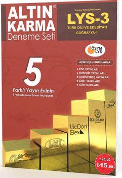 Altın Karma LYS 3 Türk Dili ve Edebiyatı Coğrafya 1 Deneme 5 Farklı Yayın