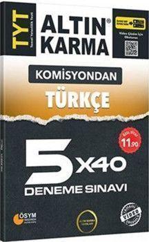 Altın Karma TYT Türkçe Komisyondan 5x40 Deneme Sınavı