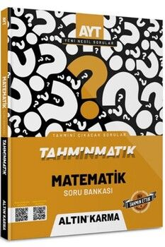 Altın Karma Yayınları AYT Matematik Tahminmatik Soru Bankası
