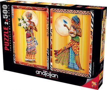 Anatolian Afrikalı Kadınlar African Ladies 2x500 Parça Puzzle - Yapboz