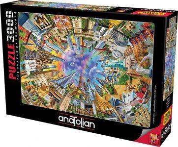 Anatolian Dünya Anıtları  360 World  3000 Parça Puzzle - Yapboz