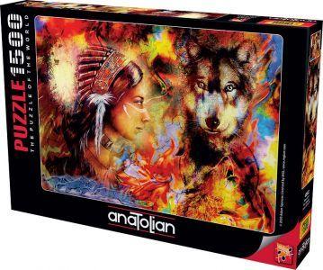 Anatolian Masumiyet Wolf Waiden 1500 Parça Puzzle - Yapboz