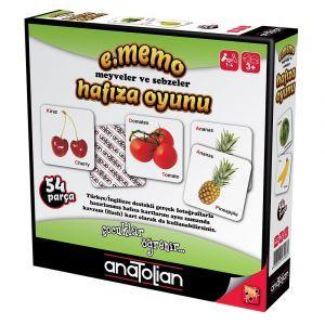 Anatolian Meyveler ve Sebzeler Hafıza Oyunu 54 Parça Oyun