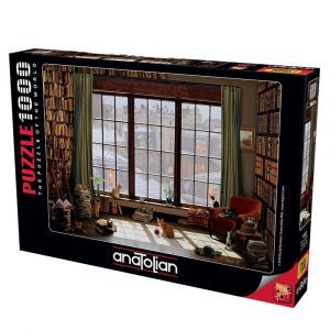 Anatolian Pencere Kedileri  Window Cats 1000 Parça Puzzle - Yapboz
