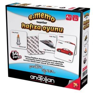 Anatolian Taşıtlar Hafıza Oyunu 54 Parça Oyun