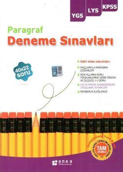 Anka Eğitim Yayınları YGS LYS KPSS Paragraf 40X22 Deneme Sınavları