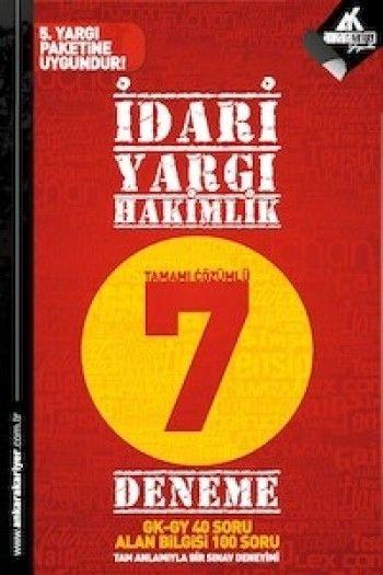 Ankara Kariyer Yayınları İdari Yargı Hakimliği 7 Çözümlü Deneme 2015