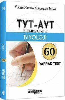 Ankara Yayıncılık TYT AYT Biyoloji 60 Yaprak Test