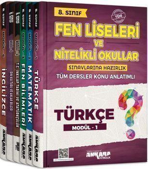 Ankara Yayıncılık 8. Sınıf Tüm Dersler Fen Liseleri ve Nitelikli Okullar Konu Anlatımlı Modüler Set