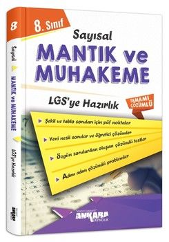 Ankara Yayıncılık 8. Sınıf LGS Sayısal Muhakeme Mantık Çözümlü Soru Bankası