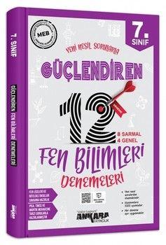 Ankara Yayıncılık 7. Sınıf Fen Bilimleri Güçlendiren 12 Deneme Sınavı