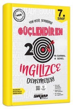 Ankara Yayıncılık 7. Sınıf İngilizce Güçlendiren 20 Deneme Sınavı