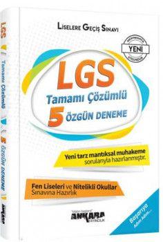 Ankara Yayıncılık 8. Sınıf LGS Tamamı Çözümlü 5 Özgün Deneme