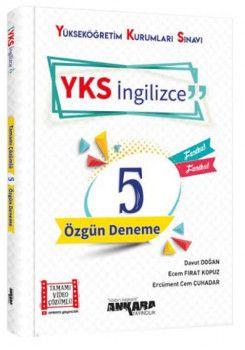 Ankara Yayıncılık YKS AYT İngilizce Özgün Tamamı Video Çözümlü 5 Deneme