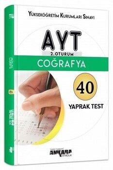 Ankara Yayıncılık AYT Coğrafya 40 Yaprak Test