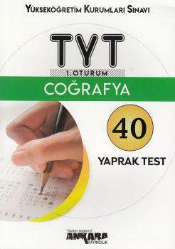 Ankara Yayıncılık TYT Coğrafya 40 Yaprak Test