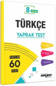 Ankara Yayıncılık 8. Sınıf Türkçe Yaprak Test