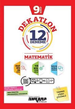 Ankara Yayıncılık 9. Sınıf Matematik Dekatlon 12 Denemeleri
