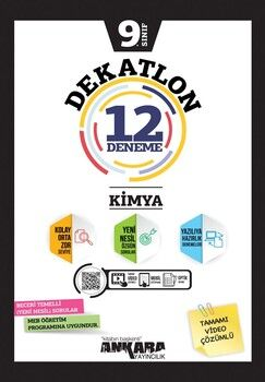 Ankara Yayıncılık 9. Sınıf Kimya Dekatlon 12 Denemeleri