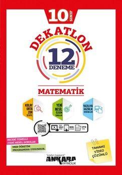 Ankara Yayıncılık 10. Sınıf Matematik Dekatlon 12 Denemeleri