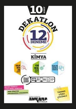 Ankara Yayıncılık 10. Sınıf Kimya Dekatlon 12 Denemeleri