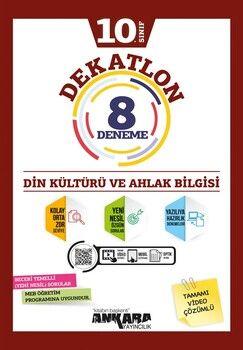 Ankara Yayıncılık 10. Sınıf Din Kültürü ve Ahlak Bilgisi Dekatlon 8 Denemeleri