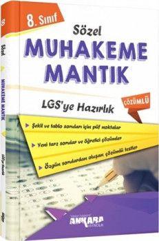 Ankara Yayıncılık 8. Sınıf LGS ye Hazırlık Sözel Muhakeme Mantık