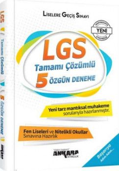 Ankara Yayıncılık LGS Tamamı Çözümlü 5 Özgün Deneme