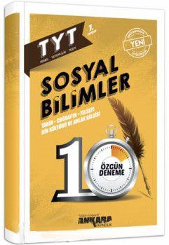 Ankara Yayıncılık TYT Sosyal Bilimler 10 Özgün Deneme