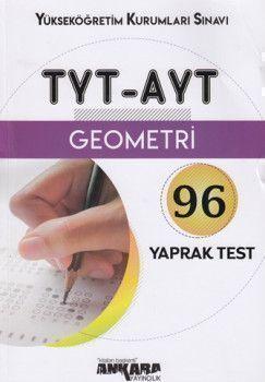 Ankara Yayıncılık TYT AYT Geometri 96 Yaprak Test