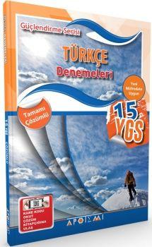 Apotemi YGS Türkçe 15 Deneme Tamamı Çözümlü