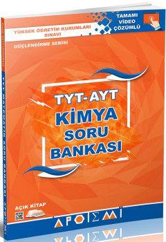 Apotemi YKS 1. ve 2. Oturum TYT AYT Kimya Soru Bankası Tamamı Video Çözümlü