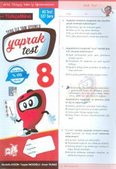 Arı Yayıncılık 8. Sınıf TEOG Türkçemino Yaprak Test