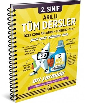 Arı Yayıncılık 2. Sınıf Akıllı Tüm Dersler Defteri