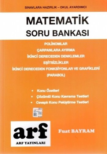 Arf Yayınları Matematik Soru Bankası Polinomlar Çarpanlara Ayırma