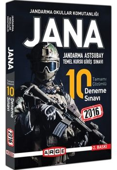 Arge Yayınları JANA 2016 Tamamı Çözümlü 10 Deneme Sınavı