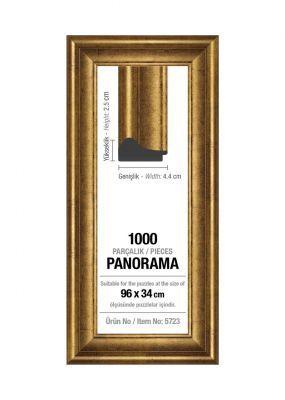 Art Puzzle 1000'lik Altın Panorama 96 x 34 cm Puzzle Çerçevesi (43 mm)