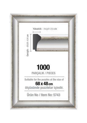 Art Puzzle 1000'lik Beyaz 68 x 48 cm Puzzle Çerçevesi (43 mm)